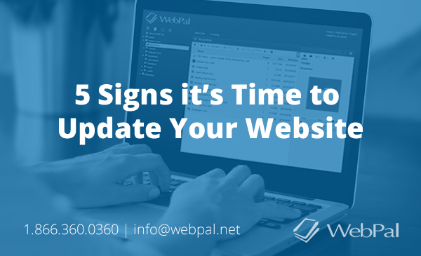 webpal palomino - signs its time to update your website